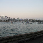 Sydney Harbour before the 2006 New Years fireworks