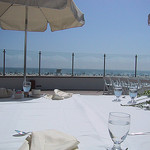 Patio at the Hotel Del Coronado