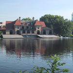 Boathouse along the Charles River
